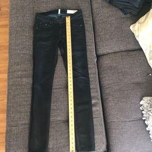 Rag & Bone / JEAN black pool color skinny jeans